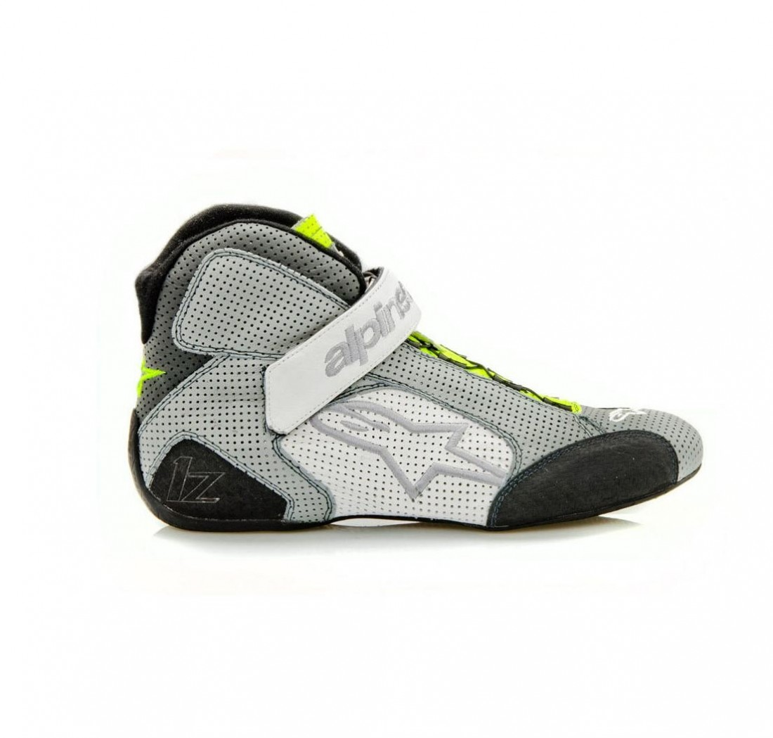 Alpinestars TECH 1-Z race boots - gray/fluo yellow/white - Size 39