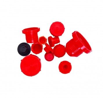 Plastic Red Caps and Plugs