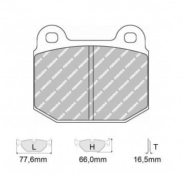 Brake Pads CARBONE LORRAINE FCP116 Model