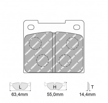 Brake Pads CARBONE LORRAINE FCP809 Model