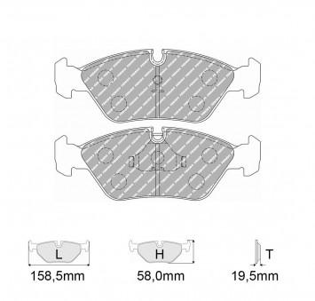 new style 7e5cc 7ba7f Brake pads Kit car make MASERATI