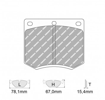 Brake Pads CARBONE LORRAINE FCP167 Model