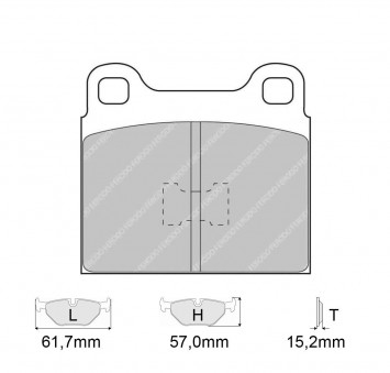 Brake Pads CARBONE LORRAINE FCP105 Model