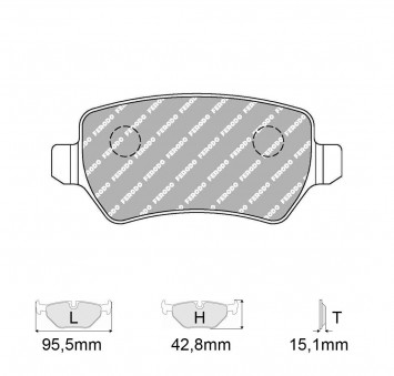 Brake pads CHEVROLET Corsa Estate 1 6 GLS
