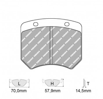 Brake Pads CARBONE LORRAINE FCP825 Model