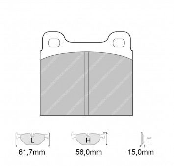 Brake Pads CARBONE LORRAINE FCP2 Model