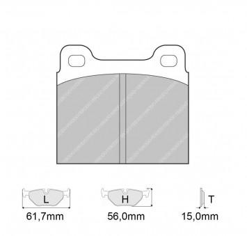 new product 68e0d 0fe4d Brake pads MASERATI 420 2.0