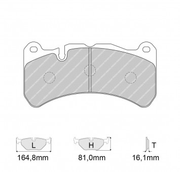 Brake Pads PAGID FRP3100 Model