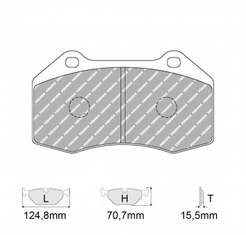 Brake Pads CARBONE LORRAINE FCP1667 Model