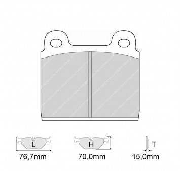Brake Pads CARBONE LORRAINE FCP11 Model
