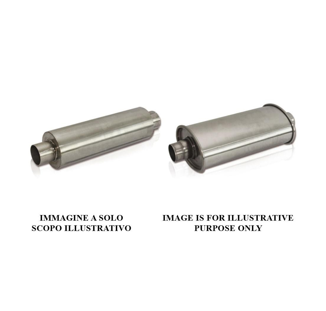 100/ mm x 180/ mm 70/ mm universal stainless steel exhaust silencer length: 350/ mm oval