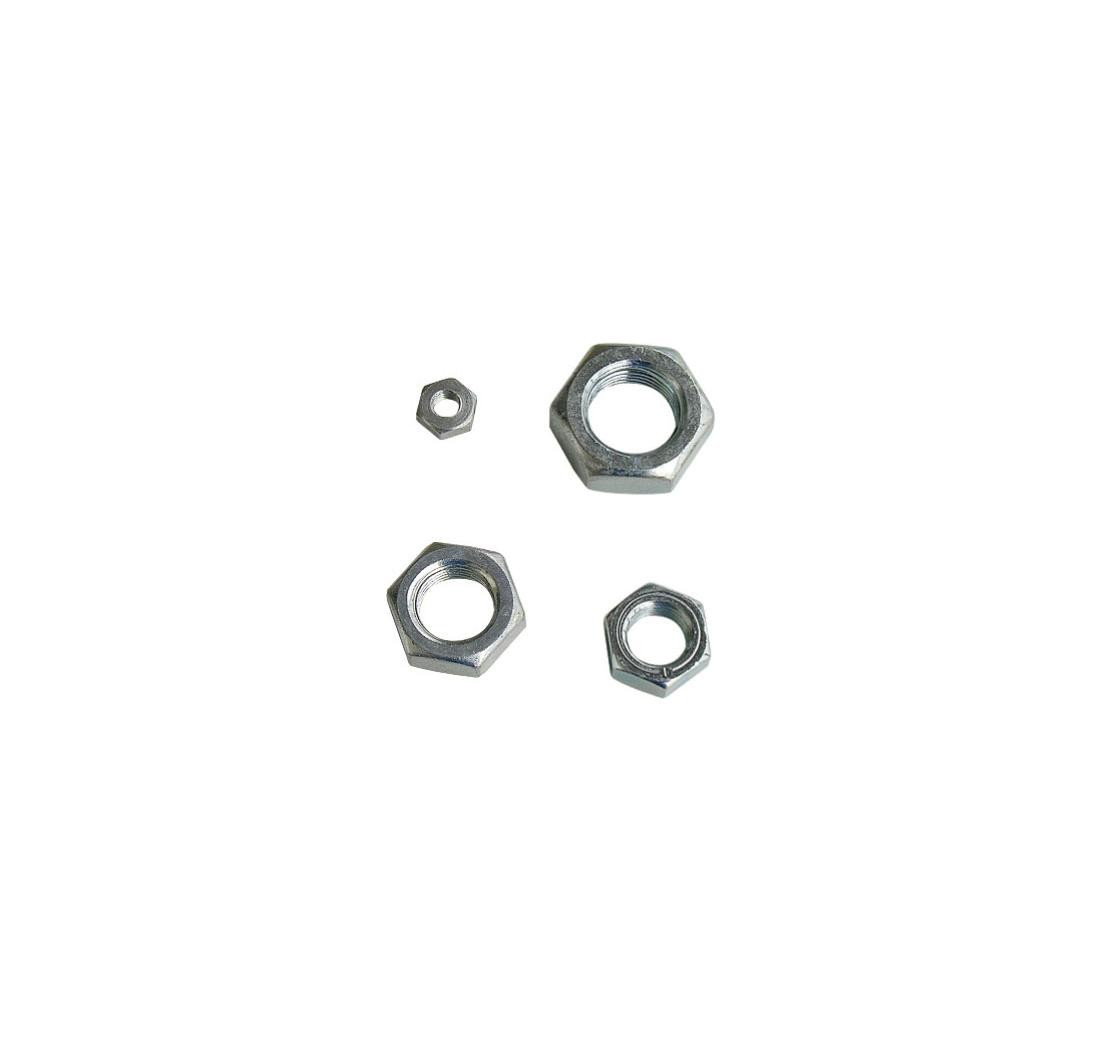 Lock nut 12 x 1,75 - RH - Nickel